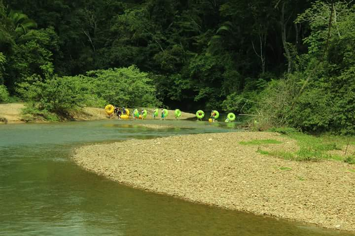 River crossing with tubes