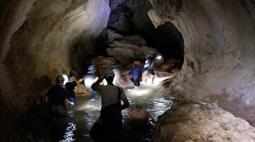 inside atm cave belize