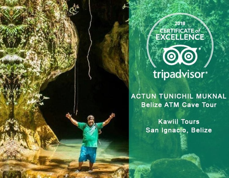 Belize ATM Cave guide Luis received certificate of excellent 2018