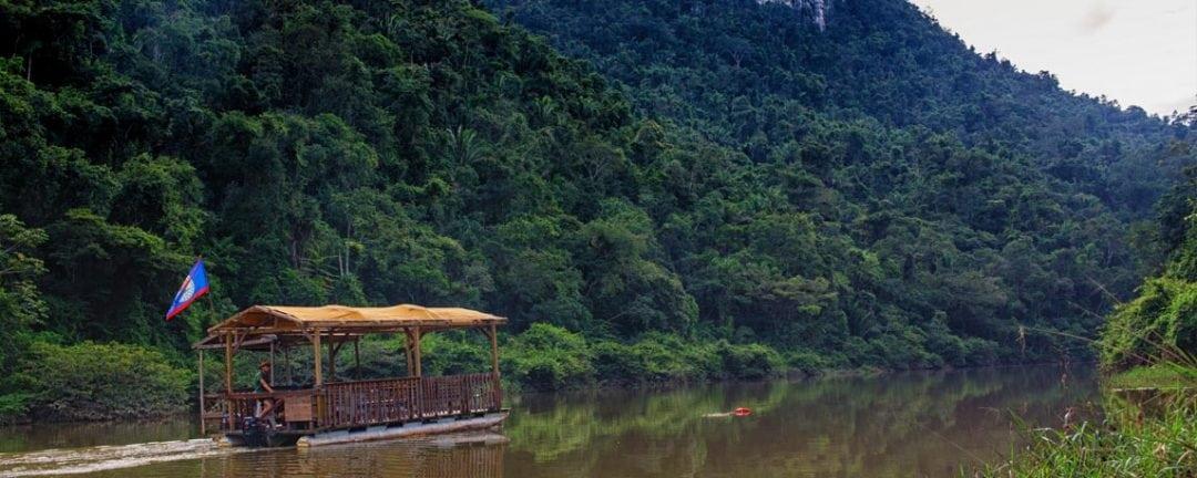 belize waterfalls jungle pontoon tour