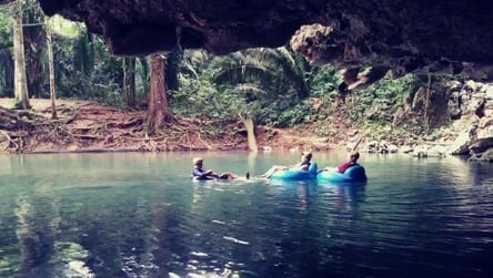 go cave tubing in belize